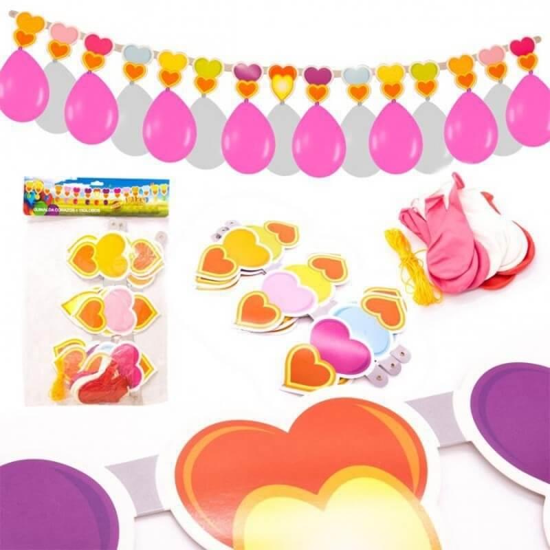 Guirlande Ballons avec des Coeurs