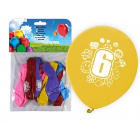 Pack Ballons Impression Numéros Numeros: cero, uno, tres