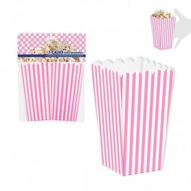 Boîtes Pop-corn Couleur: bleu, rose Vaisselle Jetable pour