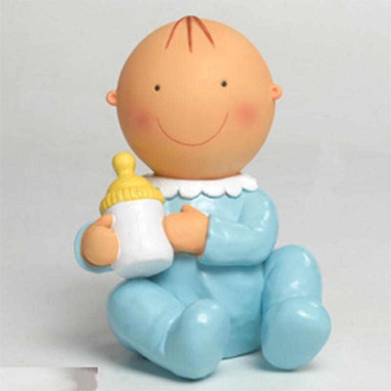Décoration Gâteaux de Baptême Couleur: rose, bleu Figurine pour