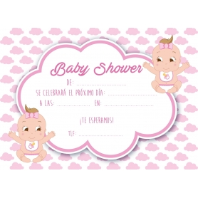 Invitation Baby Shower Jumeaux