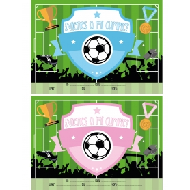 Invitations d'Anniversaire Football