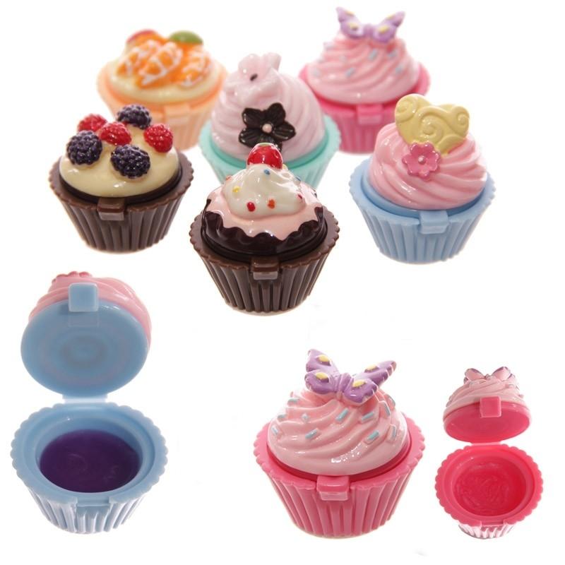 Baume pour les Lèvres en forme de Cupcake  Cadeau Original