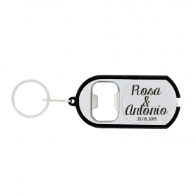 Porte-clés de Mariage avec Gravure  Porte Cadeaux 0,97€
