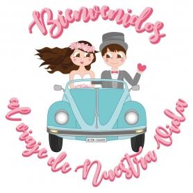 Sticker Original pour Mariage avec Possibles Défauts