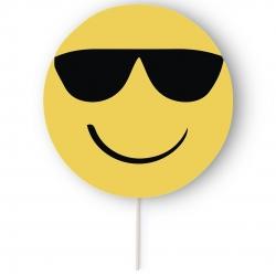 Photocall Emoticônes Licencias: emoji corazón, emoji gafas