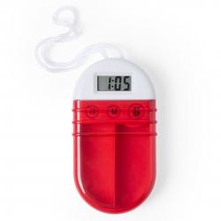 Pilulier avec Alarme Couleur: bleu, rouge, transparente Boite