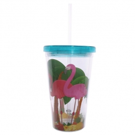Verre Flamants Roses