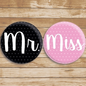 Badges Miss et Mr
