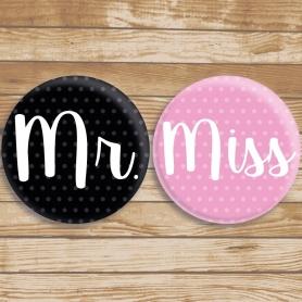 Badges Miss et Mr