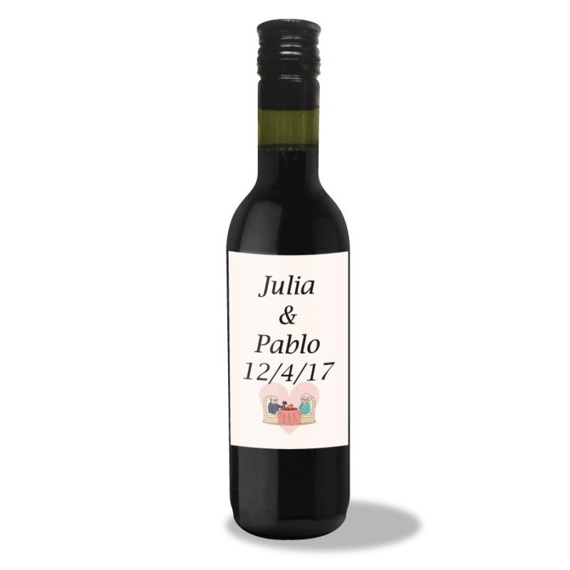 Vin pour Noces d'Or  Mignonette cadeau invite mini bouteille
