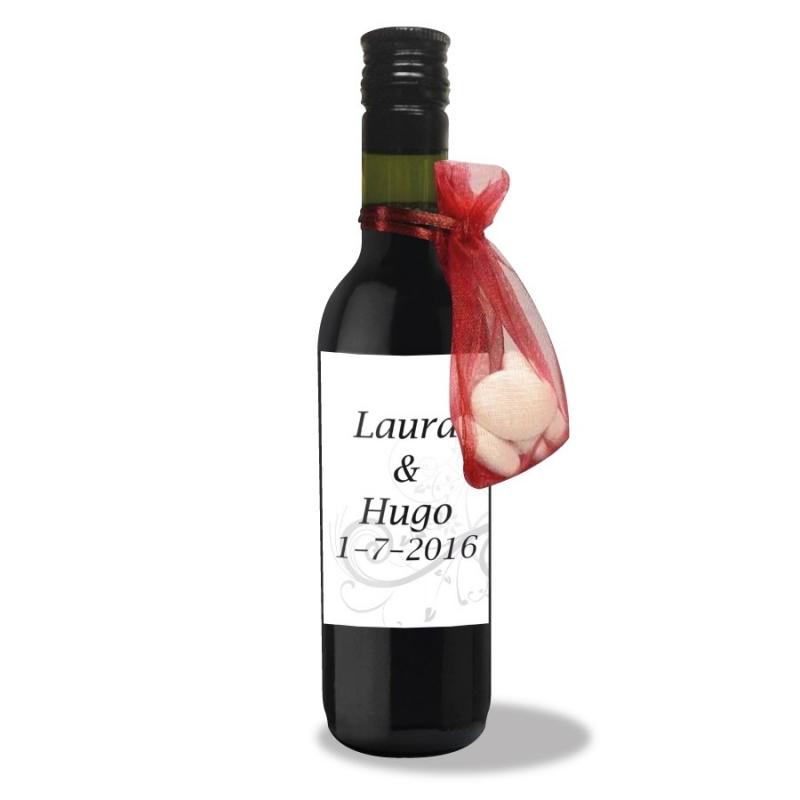 Bouteille de Vin Cadeau Mariage  Mignonette cadeau invite mini