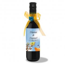 Bouteille de Vin avec Etiquette Personnalisée  Vin