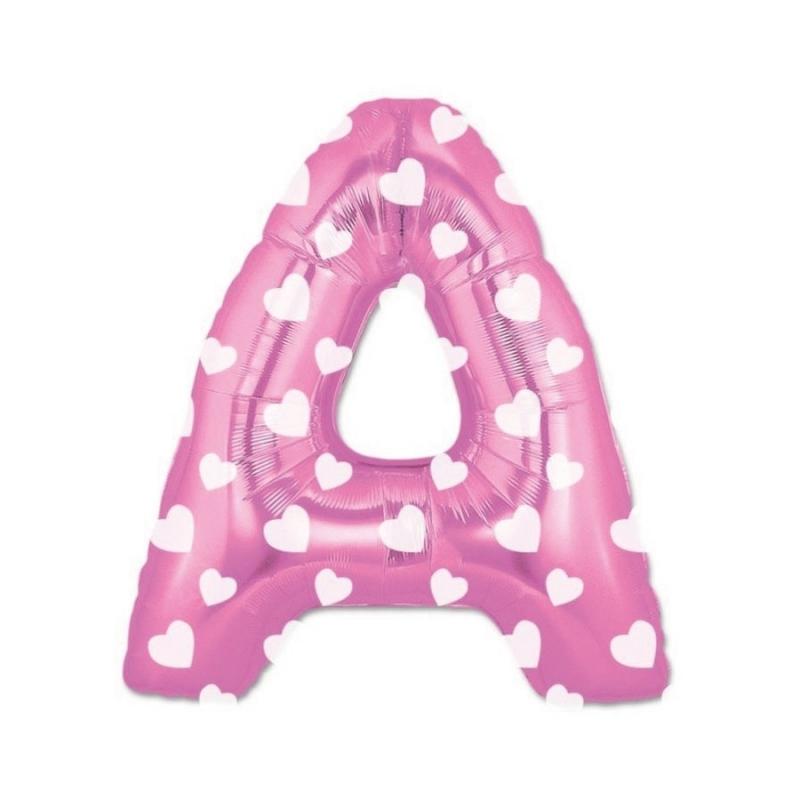 Ballons Lettres Rose Abecedario: a, b, c, d, f, g, h, i, j, k