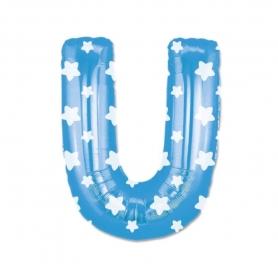 Ballons Bleus Lettres Abecedario: a, b, c, d, e, f, g, h, i, j