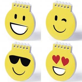 Mini Bloc-notes Emoji Licencias: emoji sonrisa, emoji guiño