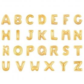 Ballons Gonflables en Forme de Lettres Dorées
