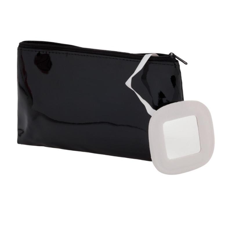 Nécessaire de Toilette avec Miroir Couleur: blanc, fuchsia