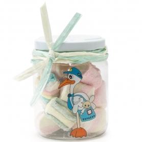 Pot de Bonbons pour Invités de Baptême  Dragées Chocolats et