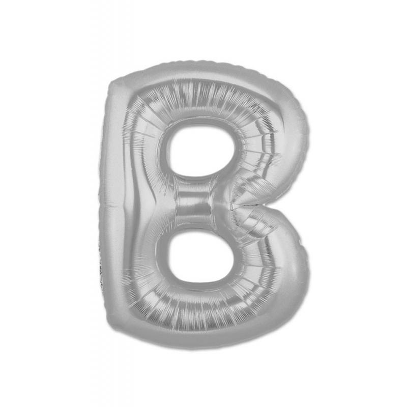 Ballons Lettres Argent Abecedario: a, b, c, d, e, f, g, h, i