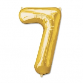Ballons Chiffre Or
