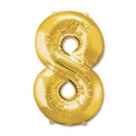 Ballons Chiffre Or Numeros: cero, uno, dos, tres, cuatro