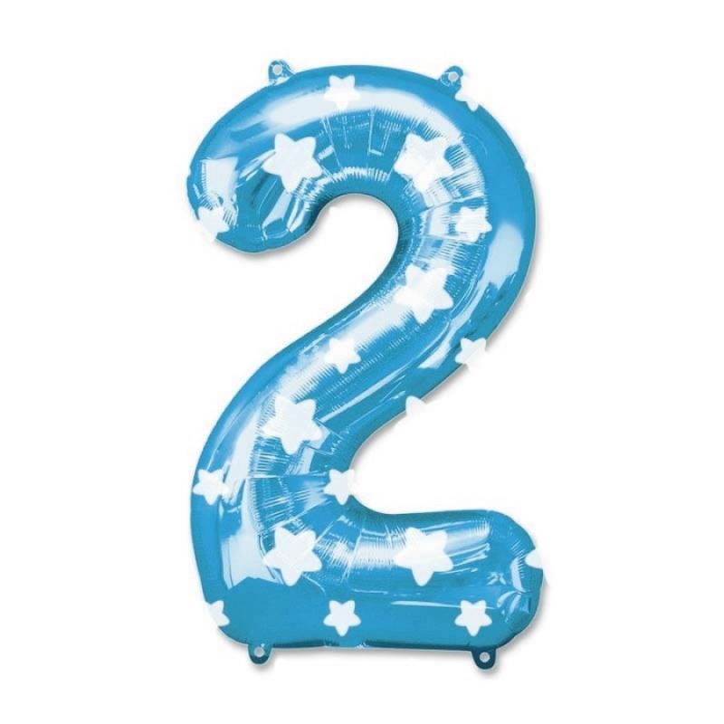 Ballons Nombres Bleus Numeros: cero, uno, dos, tres, cuatro