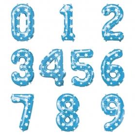 Ballons Nombres Bleus