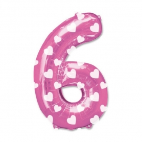 Ballons Nombres Rose Numeros: cero, uno, dos, tres, cinco