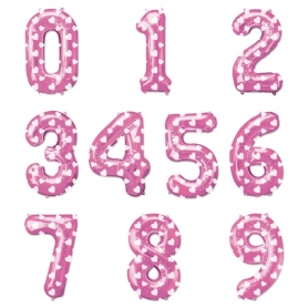 Ballons Nombres Rose