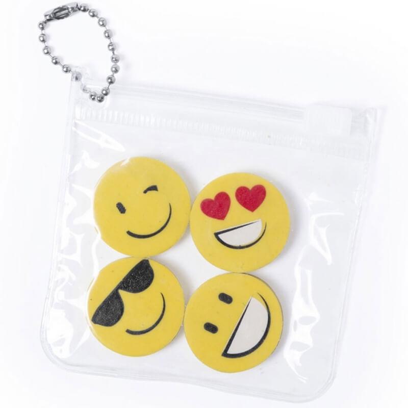 Set de Gommes Emoji  Cadeaux papeterie