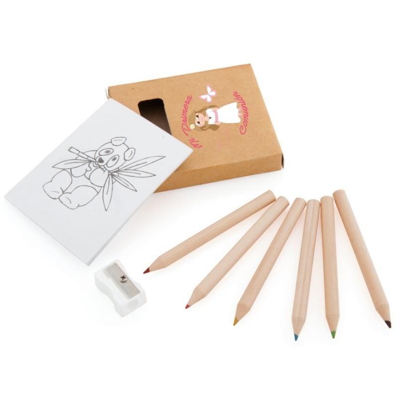Set de Coloriage pour Communion Fille  Cadeaux Papeterie