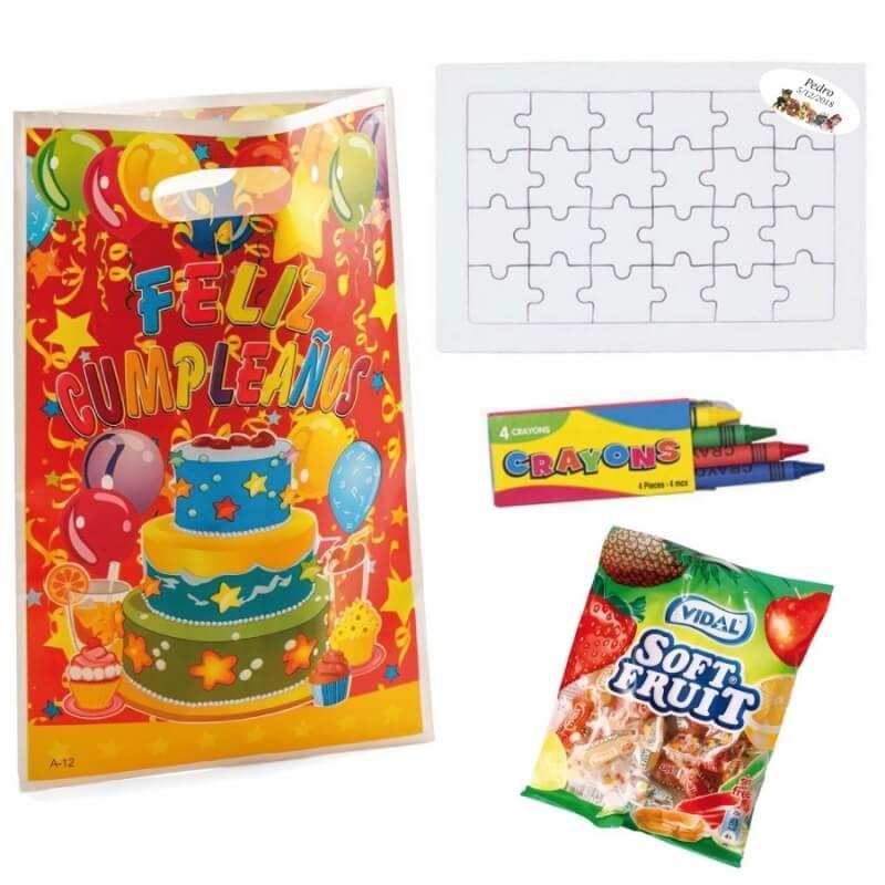 Puzzle avec des Bonbons pour Anniversaire