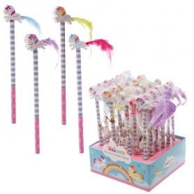 Crayons avec Gommes Licornes  Communion Cadeaux 1,75€