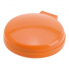 Miroir et Petite Brosse de Couleur Orange