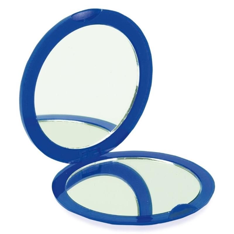 Double Miroir de Poche Bleu