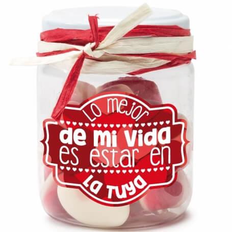 Pot de Bonbons avec Message  Cadeaux de st-valentin