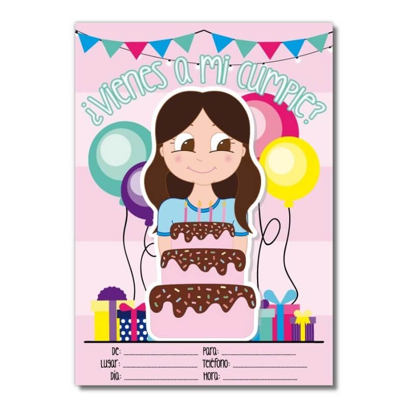 Carte D Invitation Pour Anniversaire Jeune Fille Acheter Invitations