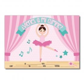Carte d'Invitation Anniversaire Danseuse