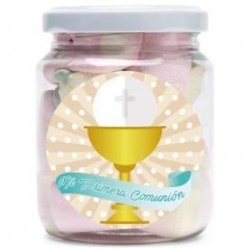 Petit Pot de Bonbons pour une Communion  Dragées Chocolats et