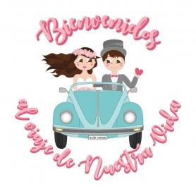 Autocollants Mariage à Fond Blanc