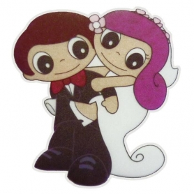 Decoration mariage etiquette autocollante
