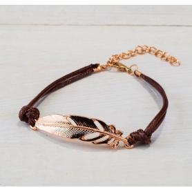 Bracelet de plumes d'or
