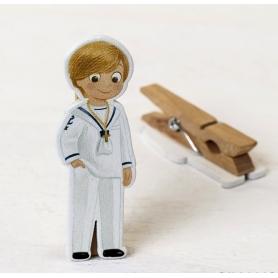 Clip de Communion en bois marin