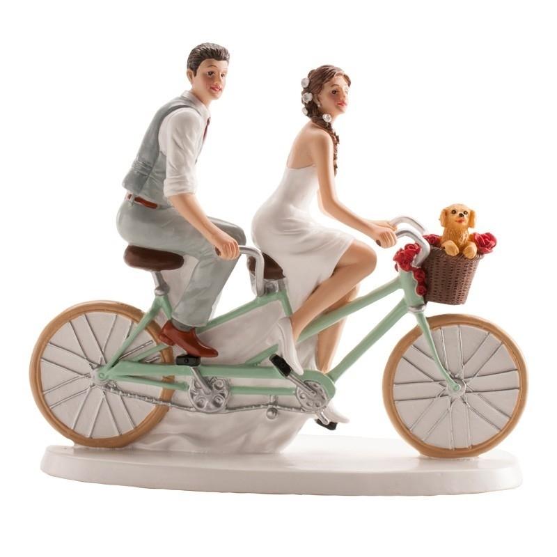 Figurine Mariage à Vélo