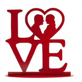 """Figurine de Mariage """"LOVE"""" Rouge"""