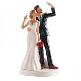 Figurine Pièce Montée Selfie  Figurine Gateau Mariage Cadeaux