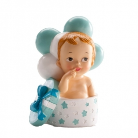 Figurine de Baptême Enfant Cadeau et Ballons