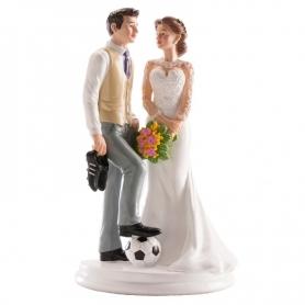 Figurine de Mariage Football  Figurine Gateau Mariage Cadeaux