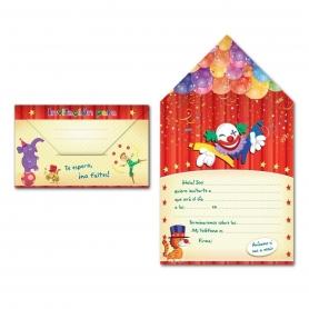 Enveloppe Invitation Cirque